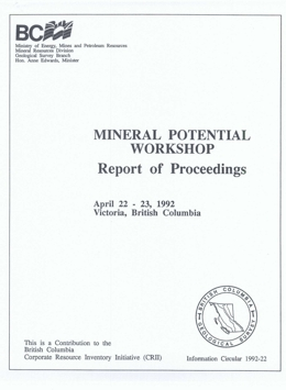 Mineral Potential Workshop: Report of Proceedings