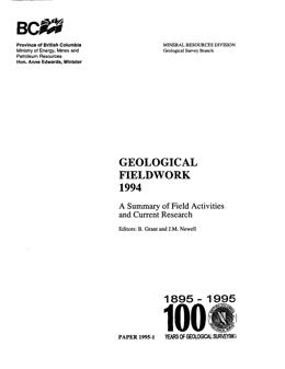 Geological Fieldwork 1994
